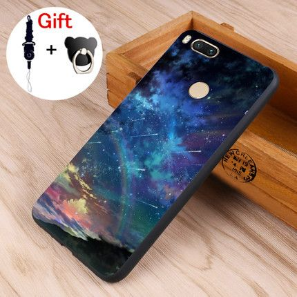 Xiaomi  Mi A1 Case Black Frame Cartoon Painted Soft TPU Back Cover Case For Xiaomi Mi 5X Mi5X #0912