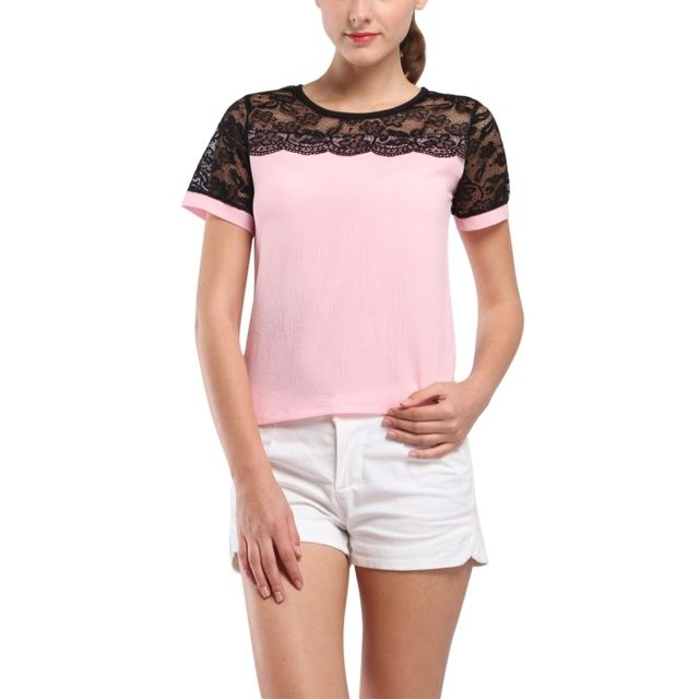 Fashion Women Blouses Summer Lace Chiffon Blouse Blusa Feminina Tops Fashion Chemise Femme Shirts