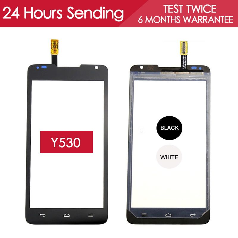 Tested AAA Quality Sensor 4.5 inch Touchscreen For Huawei Y530 Touch Screen Digitizer Glass Panel Black White Replacement Part