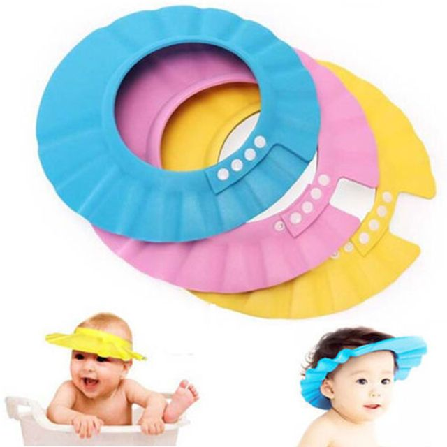 PVC Adjustable Soft Baby Shampoo Shower Cap Baby Care Bath Protection For Kid cap
