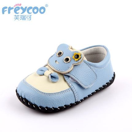 Freycoo spring and autumn genuine leather toddler girl shoes 6-24 months indoor shoes soft and cute baby shoes 1179