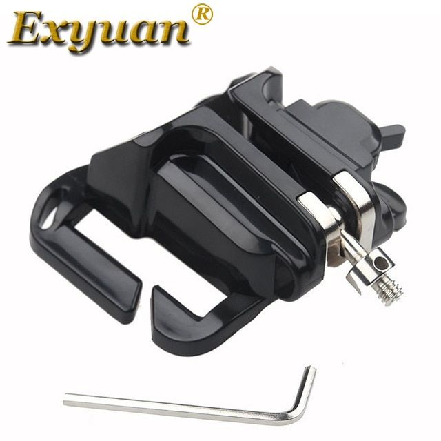 Exyuan Holster SLR Camera Accessories Quick Mount Belt Buckle Clip Holder for Nikon COOLPIX S1 S2 J1 J2 J3 J4 J5 V2 V3 L20 L31