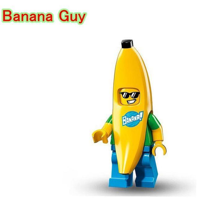 Mr Banana Guy DIY Blocks Single Sale Collectible Cartoon Models & BuildingBlocks Bricks For Children PG963