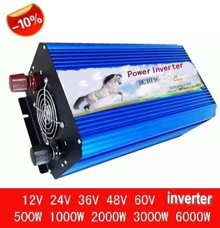 inverseur de panneau solaire solar panel inverter 3000W Pure Sine Wave Inverter,Off grid inverter,DC 12V or 24V input