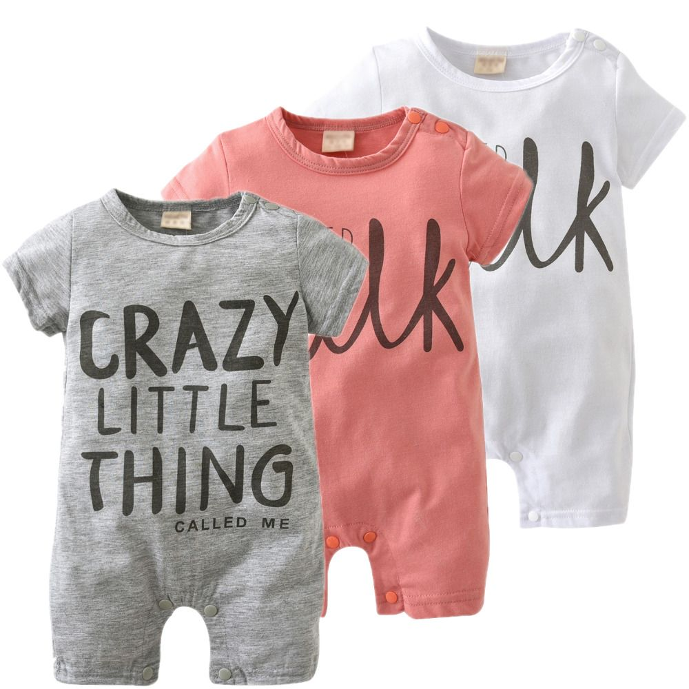 2019 New Fashion baby Romper unisex cotton Short sleeve newborn baby clothes jumpsuit Infant clothing set roupas de