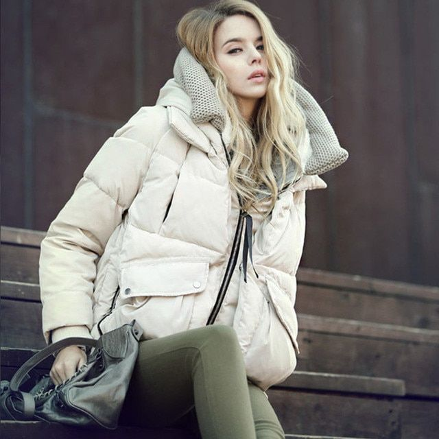 Hood Jacket Women Short Winter Coat 2017 Winter New Big Size Thick Warm Military Equipment Women Jacket Casual Women Coat DM091