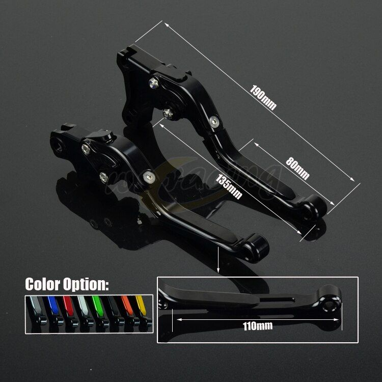 CNC Adjustable Motorcycle Billet Foldable Pivot Extendable Clutch & Brake Lever For TRIUMPH BONNEVILLE T120 TIGER 800 2015-2016