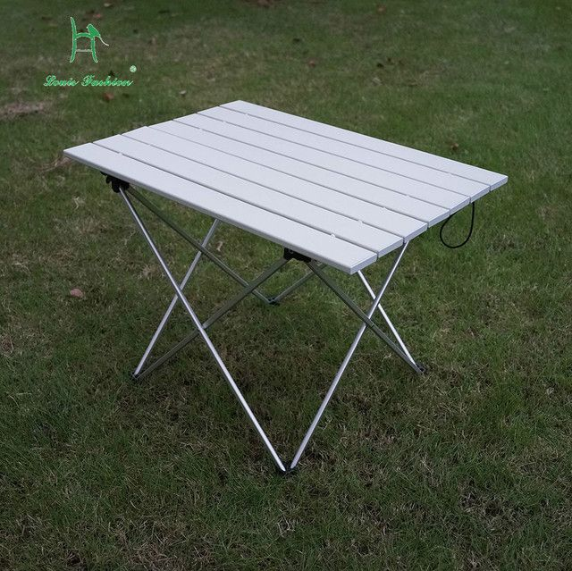 Factory outlet portable outdoor aluminum folding table barbecue table camping table picnic folding table