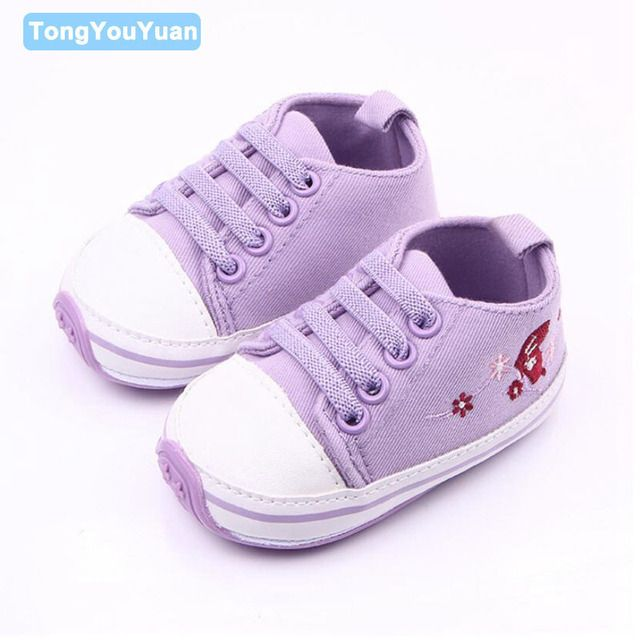 New Arrival Hard Sole Cute Infant Toddler Baby Shoes Girl Sneaker First Walker Sports Shoes For Girls 0-15 Months