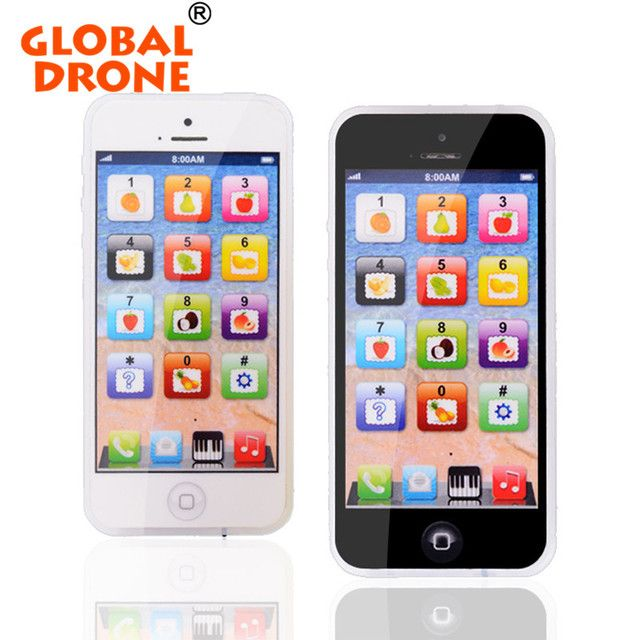 GLOBAL DRONE Y Phone English Touch Learning Computer Children touch screen Y Phone Toy Learning Educational Phone Toy