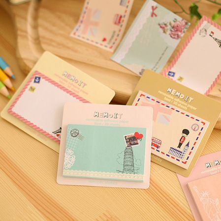 Korean Cute Kawaii Post It Planner Diary Scrapbooking Sticker Sticky Notes And Memo Pads Stationery In Notebook Office Supplies