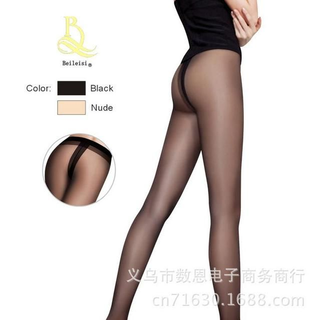 Sexy Fashion Women Seamless Pantyhose T Crotch Pantimedias Stockings Nylon Lift The Hips Transparent Tight Medias Abiertas CI395