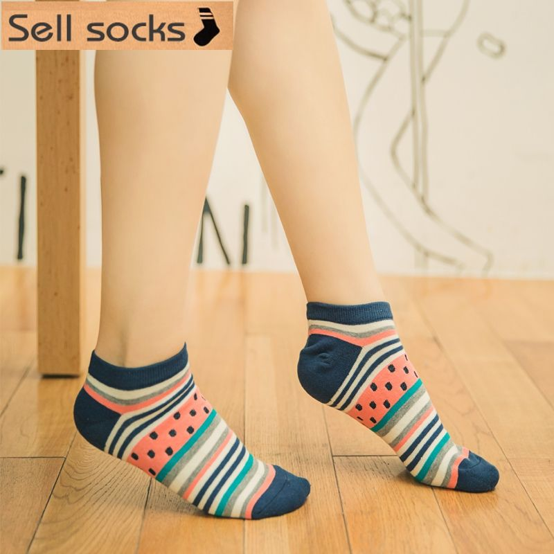 brand new summer women Ctue Fruits Banana Casual  ankle cotton socks boat sock slippers harajuku EUR35-40
