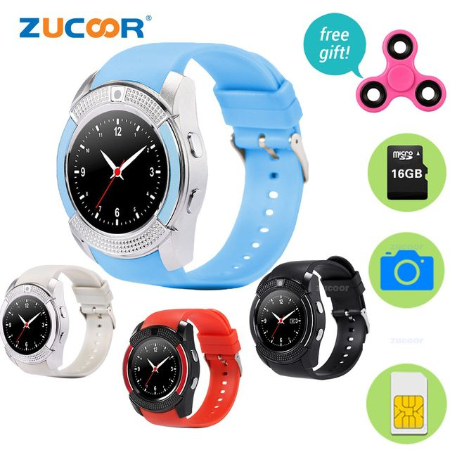 Smart Watch SmartWatch ZW45 Bluetooth Support SIM TF Card Wristwatch Camera Touch Screen Pedometer with Free Finger Spinner Gift