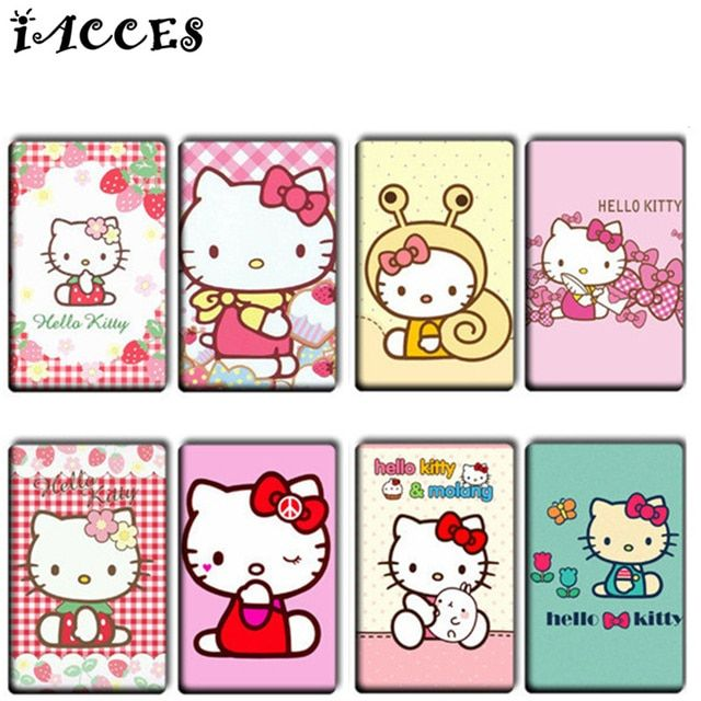 18 pcs/lot Lovely DIY Card Stickers 3D Cartoon Hello Kitty Animals Cat Classic Toys FAIRY TAILReward Sticker For Kids Gift