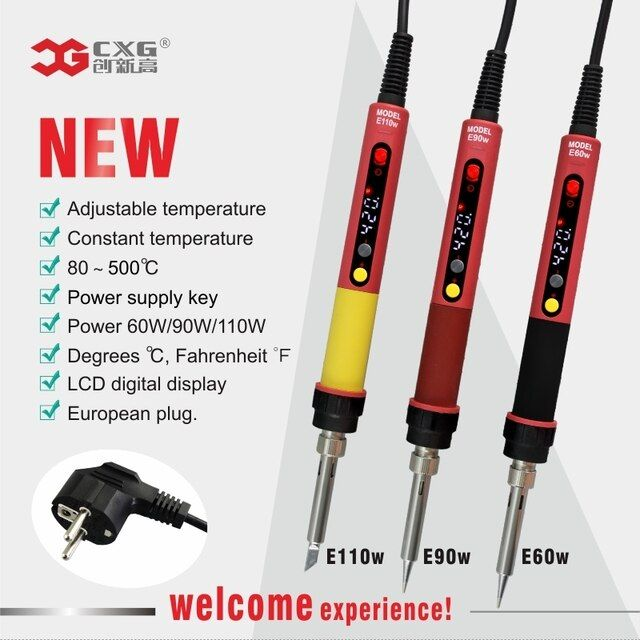 CXG E60W Professional LED Digital Adjustable Electric Soldering Iron Constant temperature Soldering Station E90WT E110WT E60WT