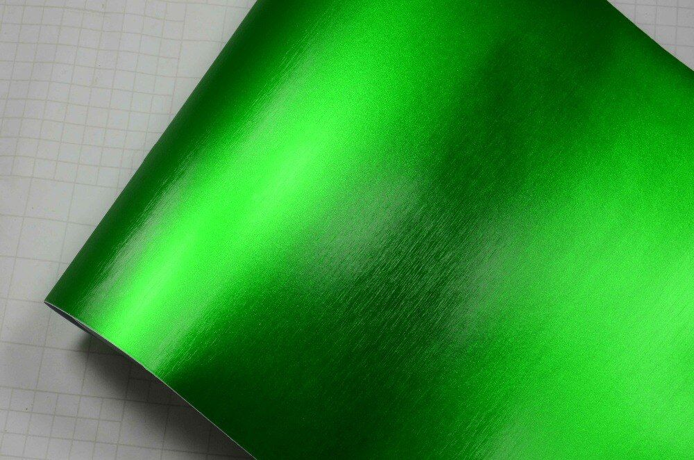 China Dream Premium Metallic 1.52x20m Green Color Matte Chrome Vinyl Car Sticker Car Vinyl Wrap