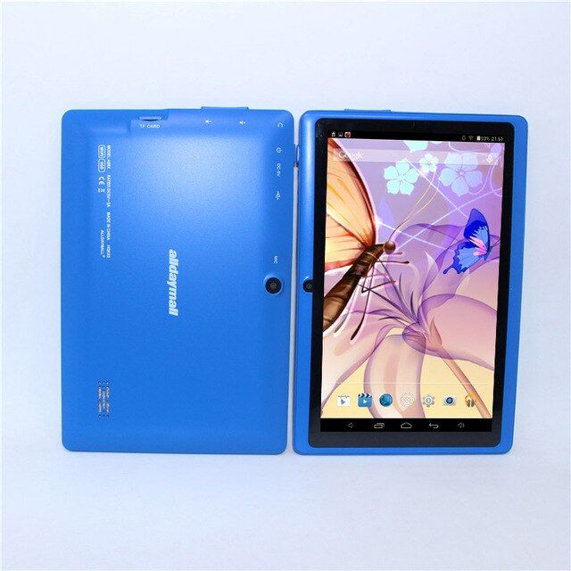 Sale!A88X Blue /M701 7 Inch Android 4.4 Allwinner A33 Quad Core 512MB/8GB 1024*600 Dual Camera Bluetooth WIFI  Android tablet pc
