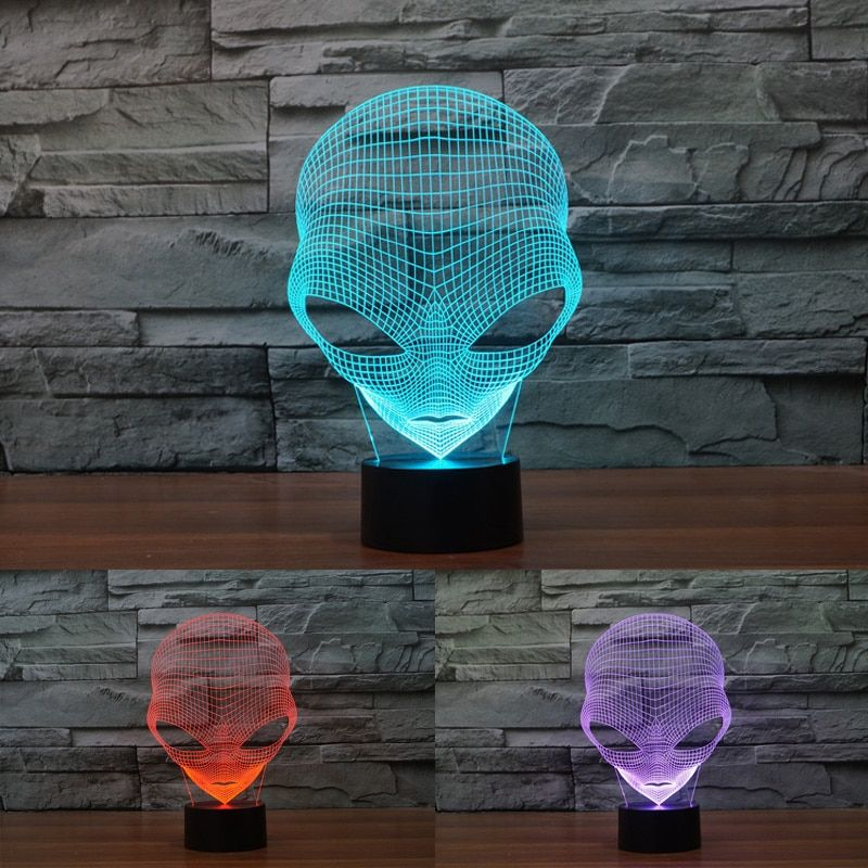 Hot sale Lamp 3D Martian 7 Colors Changeable Mood Lamp with Touch Switch 3D Bulbing Light USB Lights Custom Acrylic Lamp