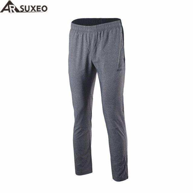 ARSUXEO 2017 Men Sports Running Pants  Training Soccer Tennis Workout GYM Pants Quick Dry Pockets P996