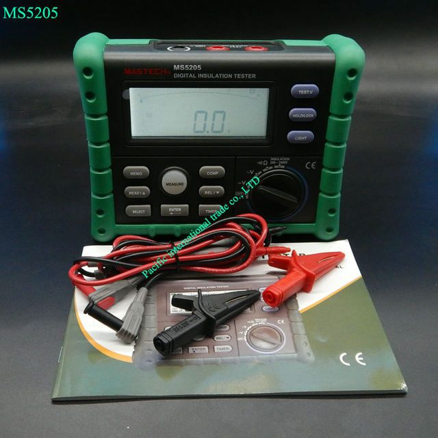 Portable High Quality Megger High Precision Digital MS5205 Insulation Tester Megger MegOhm Meter DC250/500/1000/2500V AC750V