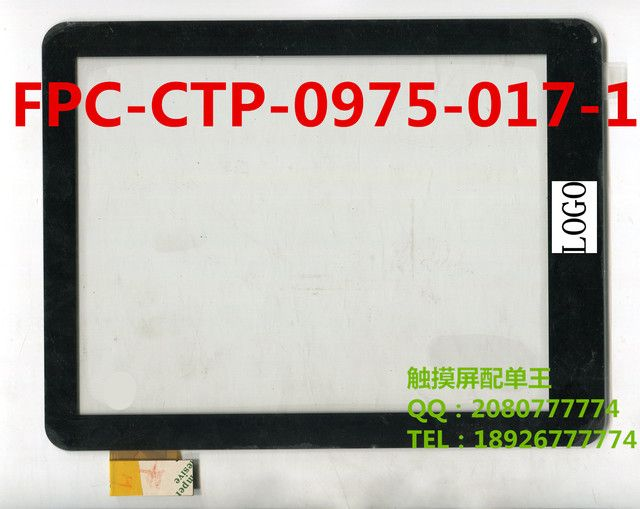 Black 9.7inch Tablet PC Touch screen panel for digitizer sensor FPC-CTP-0975-017V13-2 FPC-CTP-0975-017-1 FPC-CTP-0975-017-5