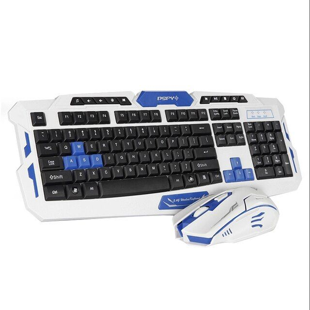Wireless Keyboard Mouse Combo Set USB 2.4Ghz 1600DPI Gaming Gamer Game Mice Multimedia Waterproof for Computer PC desktop