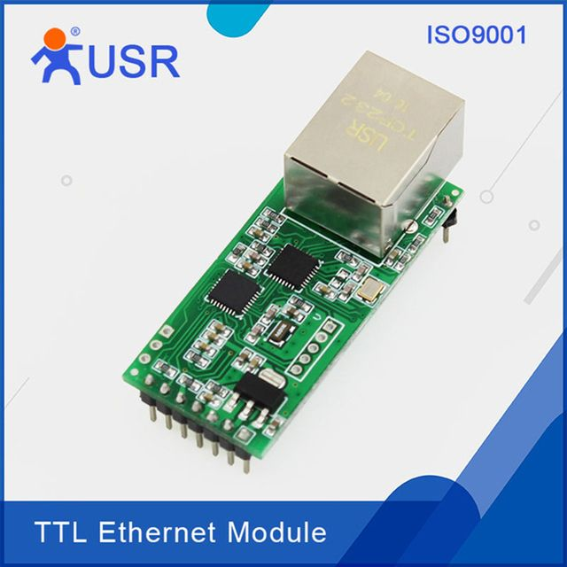 USR-TCP232-T2 Embedded Ethernet Module RS232 Serial UART TTL to Ethernet Network Converter with Tcp Ip HTTPD Client DHCP DNSQ002