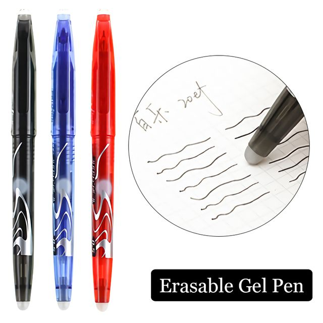 Original Pilot FriXion Erasable Pens 0.5 mm School Gel Pen Metal Tip Soft Grip Japanese Stationery LFB-20EF