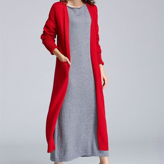 JUANBO 2017 spring and winter new Korean women accommodative long cardigan thick sweater coat authentic free shipping