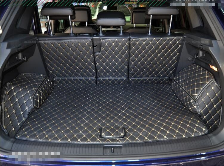 Full Rear Trunk Tray Liner Cargo Mat Floor Protector foot pad mats for 17 VW Volkswagen Tiguan 2017 2018 (6colors)