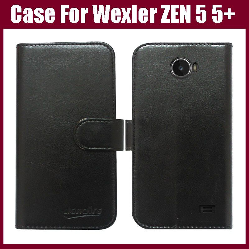 Wexler ZEN 5 case,6 Colors Luxury Flip Leather Customized Phone Case Cover For Wexler ZEN 5 5+ Cover with Card Holder in stock.