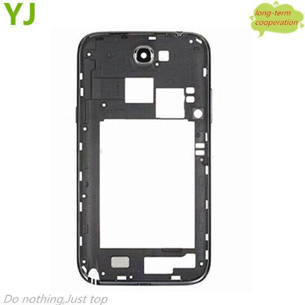Free shipping Original New Grey White Color N7100 i317 Middle Frame Housing Repair For Samsung Galaxy Note 2 N7100