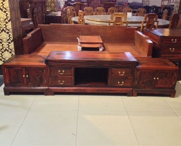 Laos red wood TV cabinet / Cochin rosewood / red wood TV cabinet antique mahogany furniture Spot