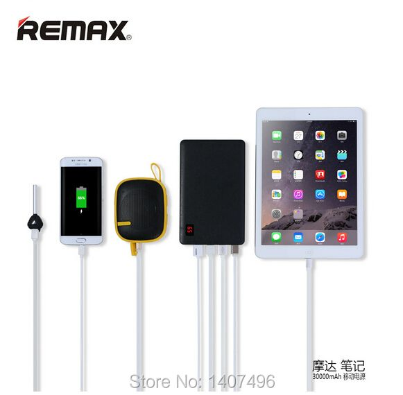 REMAX Proda LED Fast Charging 4 USB Intelligent Protection Power Bank 30000mAh Bateria Externa Cargador Portable