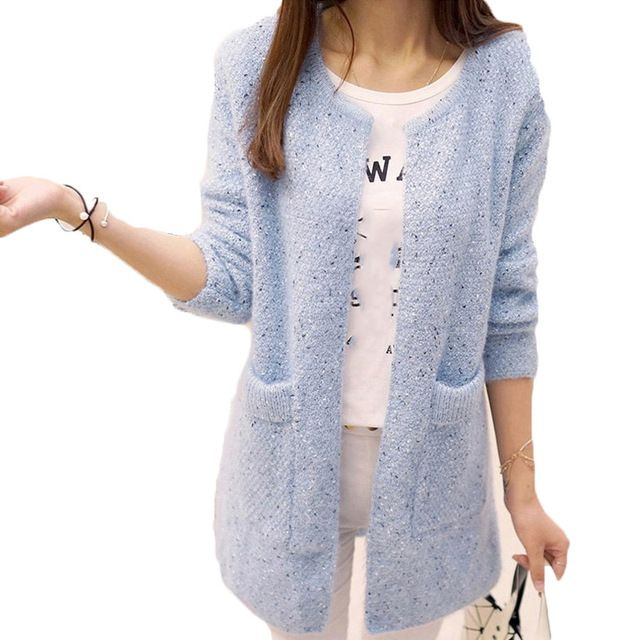 OHRYIYIE Long Cardigan Women 2018 Spring Autumn Sweater Women Long Sleeve Knitted Cardigan Female Tricot Lady Clothes Pull Femme