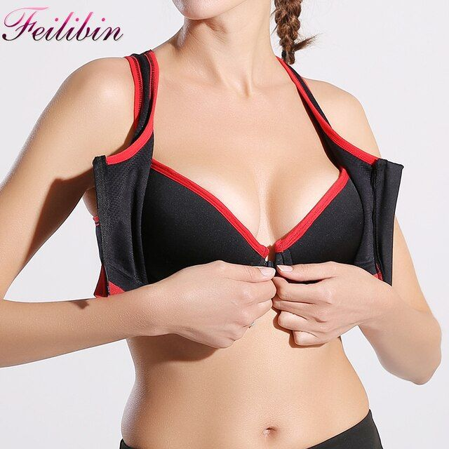 Feilibin New Sexy Women Fitness Bra Women Padded Wire Free Underwear Push Up Seamless Bras Tops Breathable Shakeproof Underwear