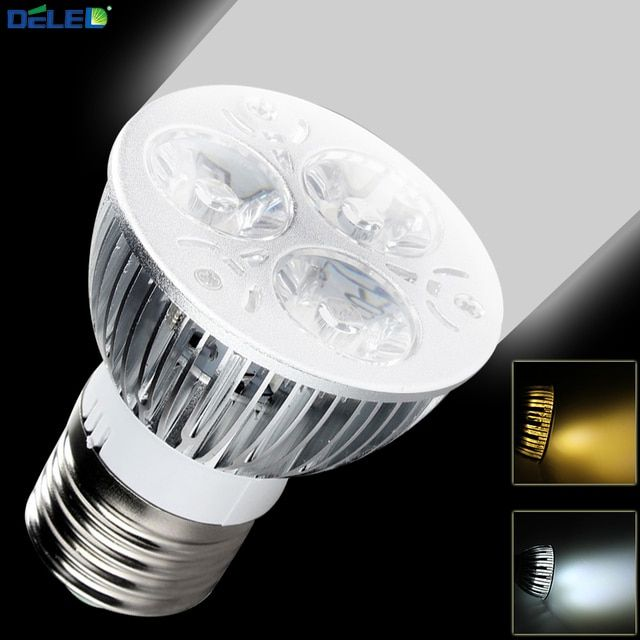 LED Spotlights White Nature Lamp No Flicker E27 5W Super Bright LED Spotlight Light Warm/Cool Color for Home Display Living Room