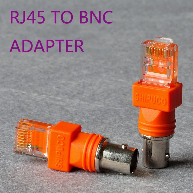 RJ45 male to BNC male Adapter - For RJ45/BNC Tester Or Security system connection