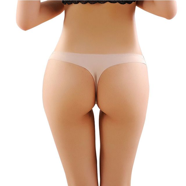 2017 Invisible Seamless Underwear Women Panties ThongsNylon Spandex Crotch Thong Tanga Braga Panty Ropa Interior Mujer Calcinha