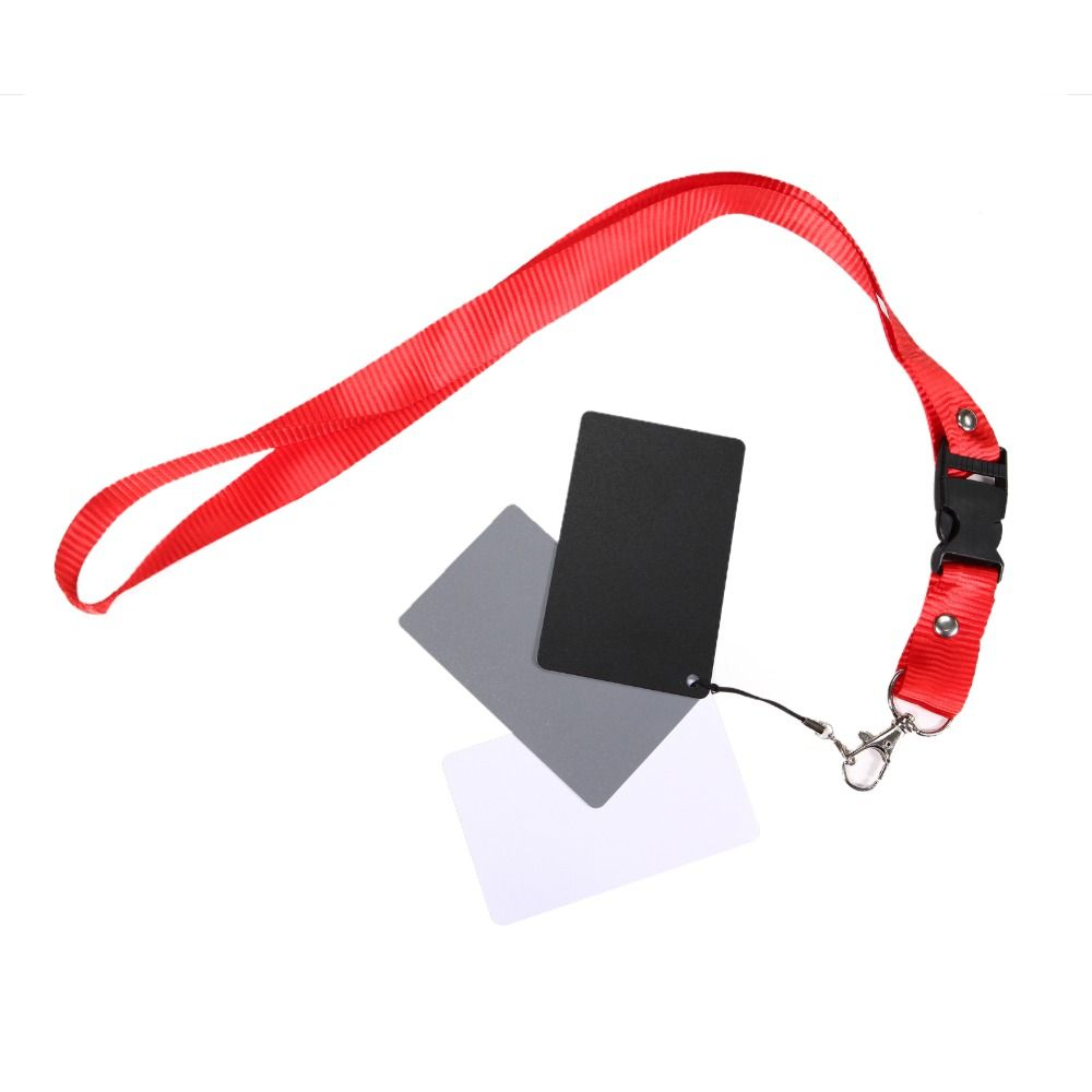 18% Grey Cards White Balance Card Set for Digital Photography with Neck Strap Color Correction Tool