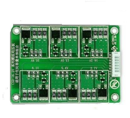 1PCS 6 series 2.7 V3000F super capacitor protection board 16.2V 500F