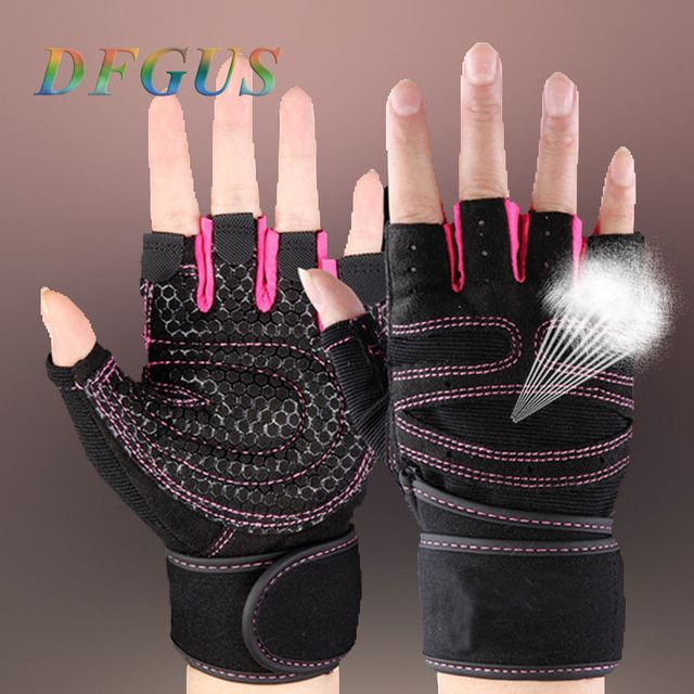 New Gym Gloves Power Luvas Fitness Academia Anti-skid Guantes Protective Crossfit Sports gloves fitness gym guantes