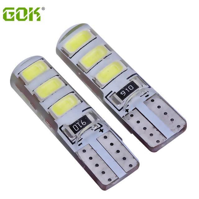 10pcs Waterproof T10 led bulb W5W 5630 6Led Car Led Light CANBUS LED 5730 6SMD t10 silicone w5w Turn light Reverse License Plate