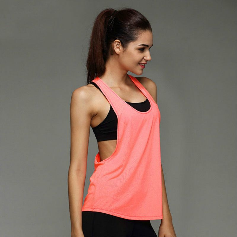 Women's T-shirt Sports Apparel Yoga Top Shirt Fitness Clothing Sport Suit Sleeveless Vest Women Running Yoga Quick Drying Tops