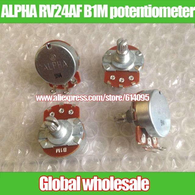 5pcs ALPHA RV24AF B1M potentiometer handle length 15MM / diameter 24MM * height 12MM mounting holes 8MM
