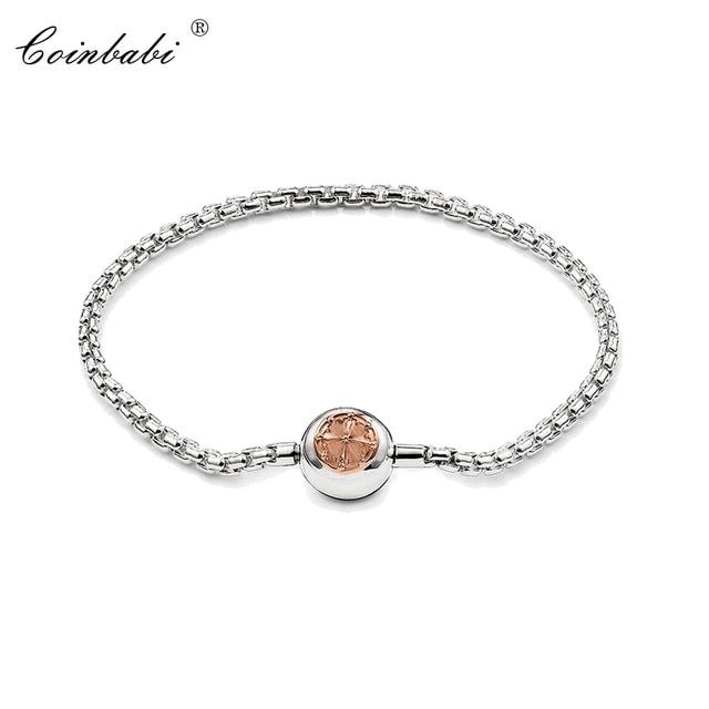 Bracelets Rose Gold Link Chain 925 Sterling Silver Fashion Jewelry For Women Men Ts Trendy Gift Thomas Style Karma Diy Bracelet