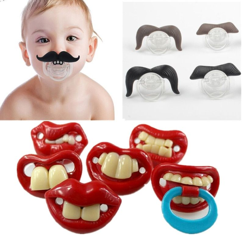 Silicone Funny Nipple Dummy Baby Soother Joke Prank Toddler Pacy Orthodontic Nipples Teether Baby Pacifier Christmas