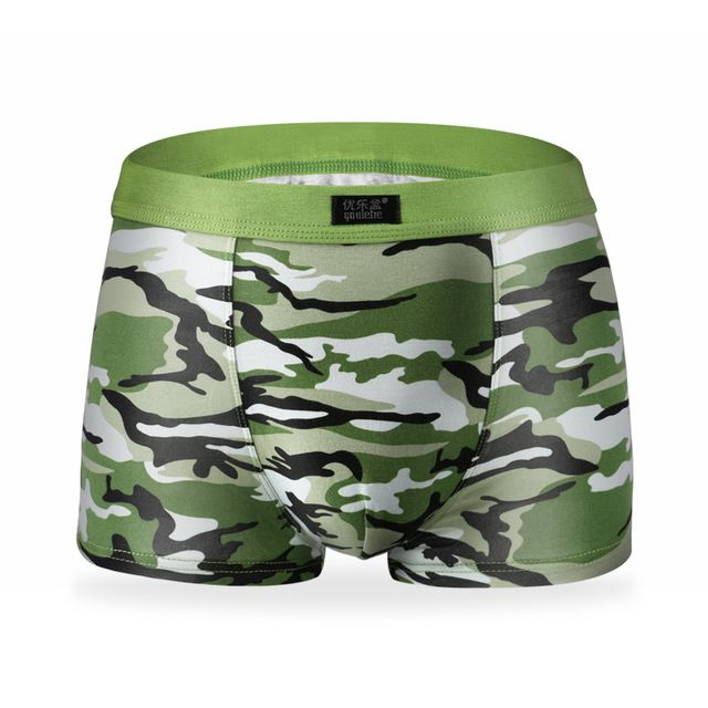 Men's Underwear Boxer Trunks Sexy Camouflage Pattern Modal Tide Cueca Masculina Calzoncillos Short Male Panties Overed Size XXXL