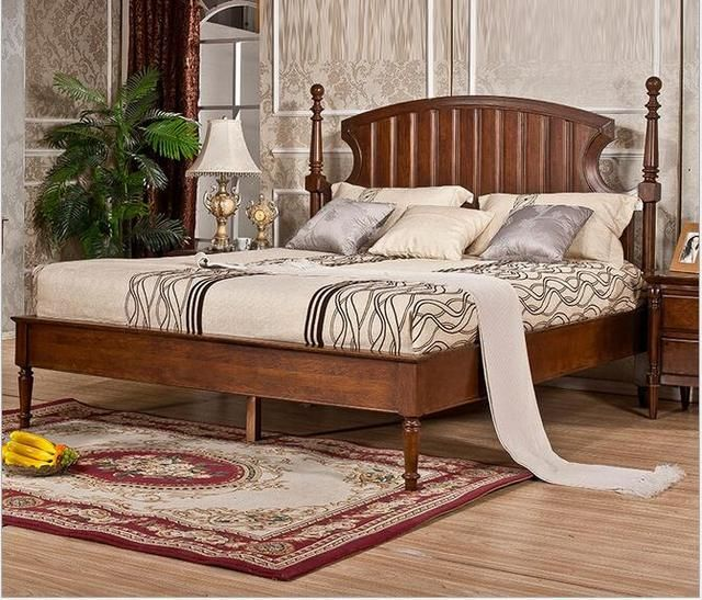 American completely real wood bed is 1.8 meters Restoring ancient ways is 1.5 m double bed